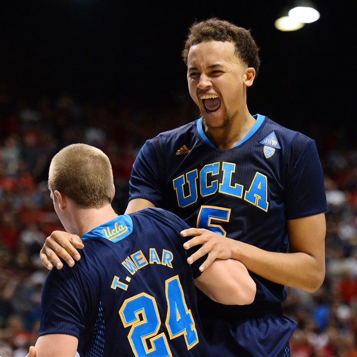 ucla0317 Sophomore guard Kyle Anderson, right, leads Pac-12 tournament champion UCLA into the NCAA tournament as the No. 4 seed in the South Region.