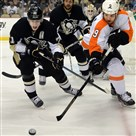 Steve Downie, show here as a member of the Philadelphia Flyers, looks to face his old team tonight in Pittsburgh.