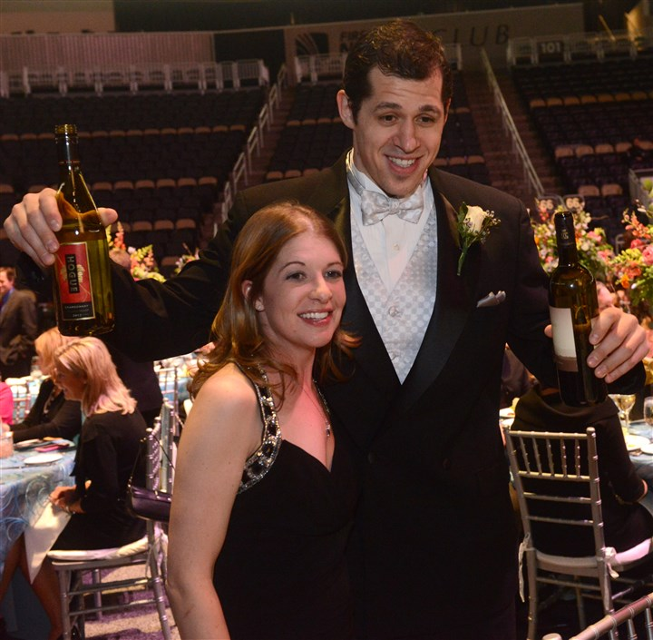 Malkin/Flory Evgeni Malkin with Nancy Flory.