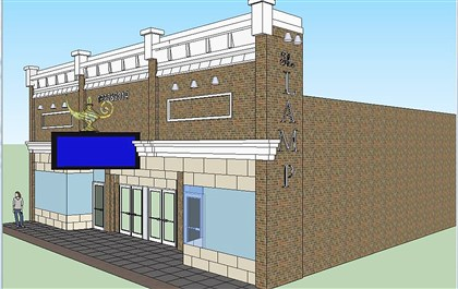 l20140317ampfacadecreenshot-2 Artist's rendering of the renovated Lamp Theatre in Irwin.