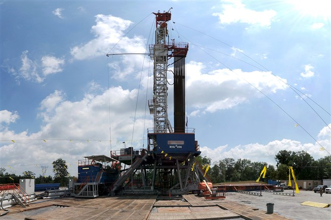 A drilling rig targets the Marcellus Shale formation in Western Pennsylvania in 2014.