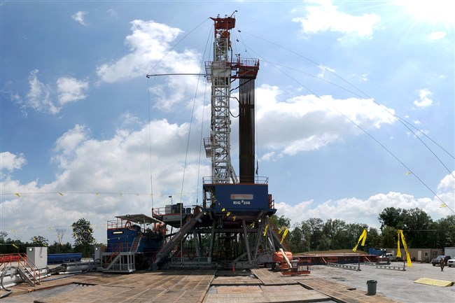 If you've driven into the countryside surrounding Pittsburgh recently, you may have seen a few skyscraping rigs like this. They're popping up across Pennsylvania as drillers tap the Marcellus Shale rock formation to access lucrative natural gas.