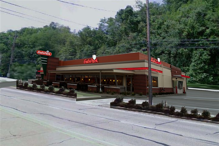 EatnPark after A drawing of what the new Banksville Eat'n Park property is expected to look like.