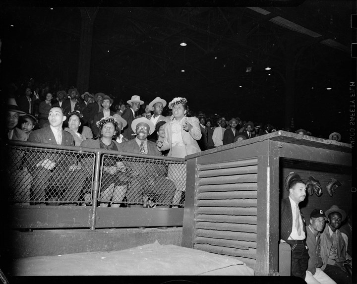 Spectators at a Homestead Grays game at Forbes Field Spectators at a Homestead Grays game at Forbes Field 