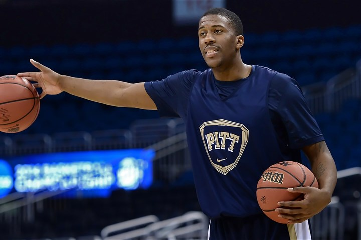 20140319mfpittsports04-3 Pitt's Lamar Patterson practices Thursday in preparation for his team's NCAA second round game against Colorado at the Amway Center in Orlando.