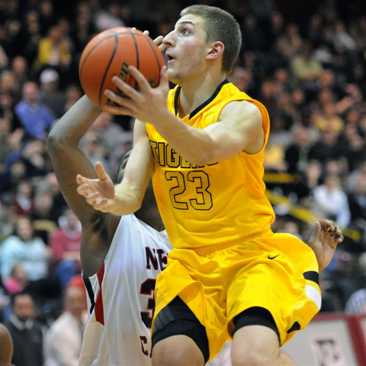 20140312JHSportsHoops05.jpg Mike Carter is one of four graduating seniors on the North Allegheny roster this season.