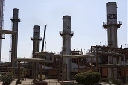 A group of boiler towers stand at the Petroleos Mexicanos (Pemex) Miguel Hidalgo Refinery in Tula de Allende, Mexico.