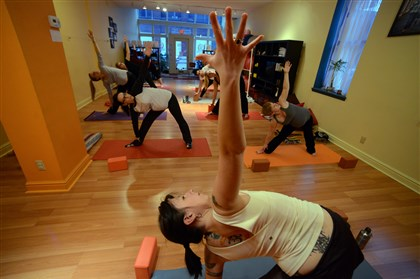 Deena Blumenfeld of Shining Light Prenatal Education Deena Blumenfeld, owner and principal educator of Shining Light Prenatal Education in Lawrenceville, leads a prenatal yoga class.