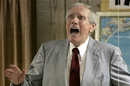 Obit Fred Phelps In this March 19, 2006 file photo, the Rev. Fred Phelps Sr. preaches at his Westboro Baptist Church in Topeka, Kan.