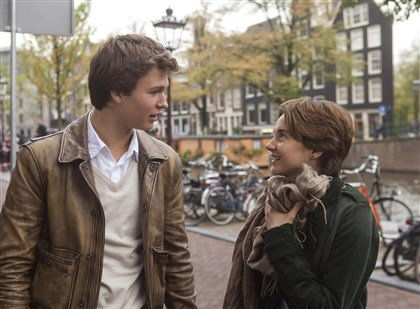 "A Fault In Our Stars Hazel (Shailene Woodley) and Gus (Ansel Elgort) are two extraordinary teenagers who share an acerbic wit, a disdain for the conventional, and a love that sweeps them -- and us - on an unforgettable journey in ""The Fault in Our Stars.""."
