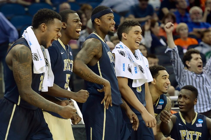 panthers0321 Pitt's Michael Young, Durand Johnson, Jamel Artis and James Robinson react to a play near the end of their blowout win Thursday afternoon against Colorado in the NCAA tournament in Orlando, Fla.