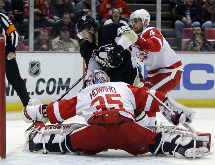 Penguins Red Wings Hockey The Penguins may get a glimpse of a first-round playoff opponent when they play the Detroit Red Wings tonight att Consol.