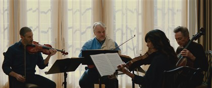 "A Late Quartet Mark Ivanir, Philip Seymour Hoffman, Catherine Keener and Christopher Walken in 2012's ""A Late Quartet."" The film featured Quartet in C-sharp Minor, Op. 131, which will be part of a Monday performance by Chamber Music Pittsburgh."