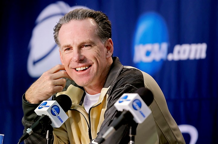 20140321mfpittsports04-1 Pitt head coach Jamie Dixon talks at a March 21 press conference about his team's third round game against Florida in the NCAA tournament in Orlando.
