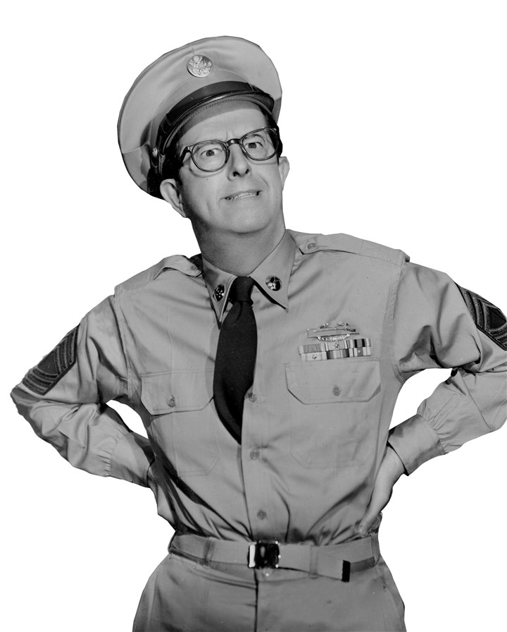 "Phil Silvers as Sgt. Bilko. Phil Silvers as Sgt. Bilko. ""The Phil Silvers Show"" ran from 1955-59 on CBS."