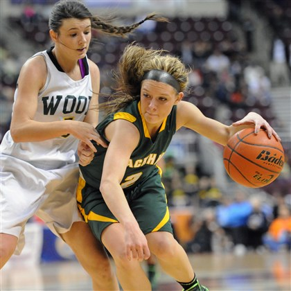 blackhawk0323 Blackhawk's Chassidy Omogrosso finds an opening in the Archbishop Wood defense in the Class AAA girls championship game Saturday. Omogrosso finished with 26 points.