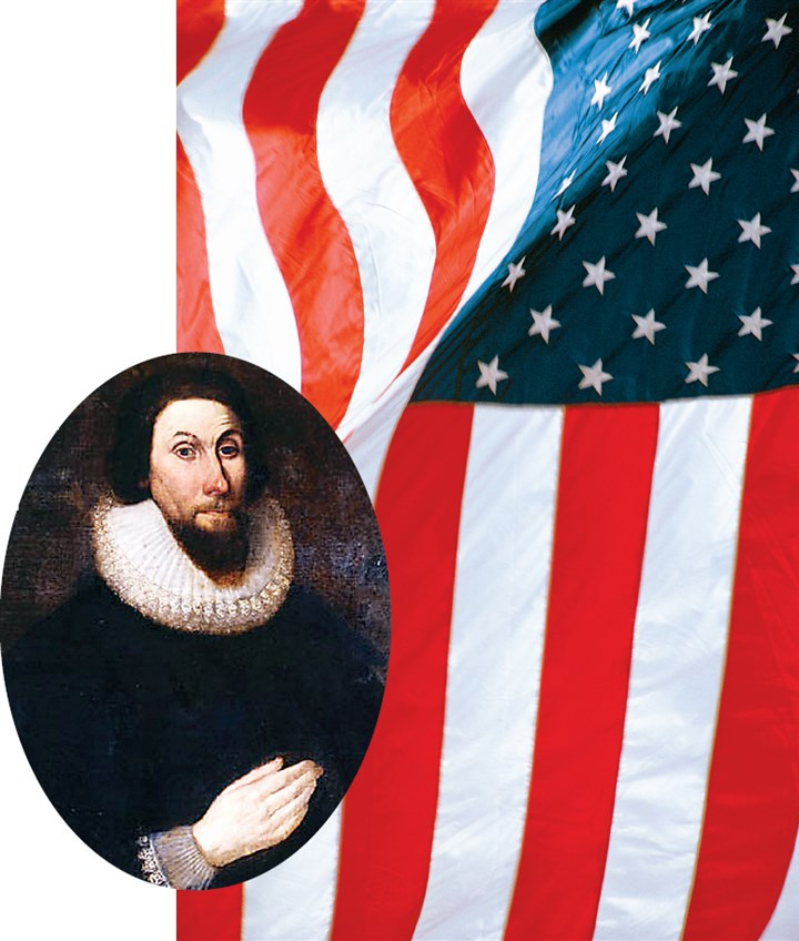 "Massachusetts Bay Colony Governor John Winthrop Massachusetts Bay Colony Governor John Winthrop - his words: ""a city on a hill"" invoked a commitment to service, not a statement of exceptionalism."