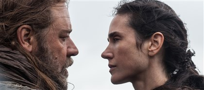 "20140328Noah1 Russell Crowe is Noah and Jennifer Connelly is Naameh in ""Noah."""