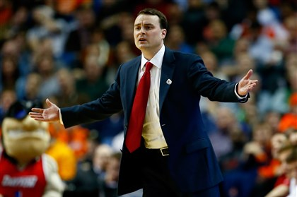 Archie Miller Head coach Archie Miller of the Dayton Flyers looks on during the third round of the 2014 NCAA Men's Basketball Tournament against the Syracuse Orange at the First Niagara Center on March 22, 2014 in Buffalo, New York.