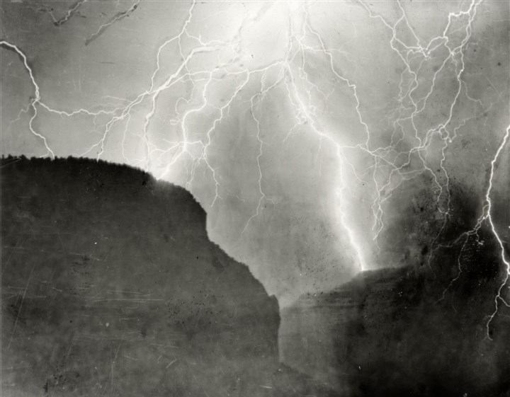 Electrical Storm, Grand Canyon, 1902 Electrical Storm, Grand Canyon, 1902, by Emery Clifford Kolb (1881-1976).