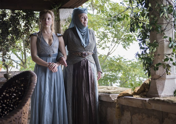 "20140403HOGOT-2 Natalie Dormer and Diana Rigg in ""Game of Thrones."""