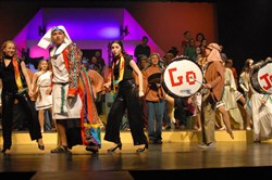 "The cast of ""Joseph and the Amazing Technicolor Dreamcoat"" featured Devin Moore as Joseph and Ranae McIntyre and Emily Palma as the Narrators. Performances were March 5-8, 2014."