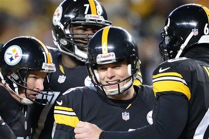 suisham0330a-1 Steelers kicker Shaun Suisham had his contract extended by the Steelers through 2018.