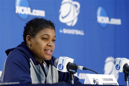washington0330 Penn State coach Coquese Washington previews the Lady Lions' game today against Stanford.