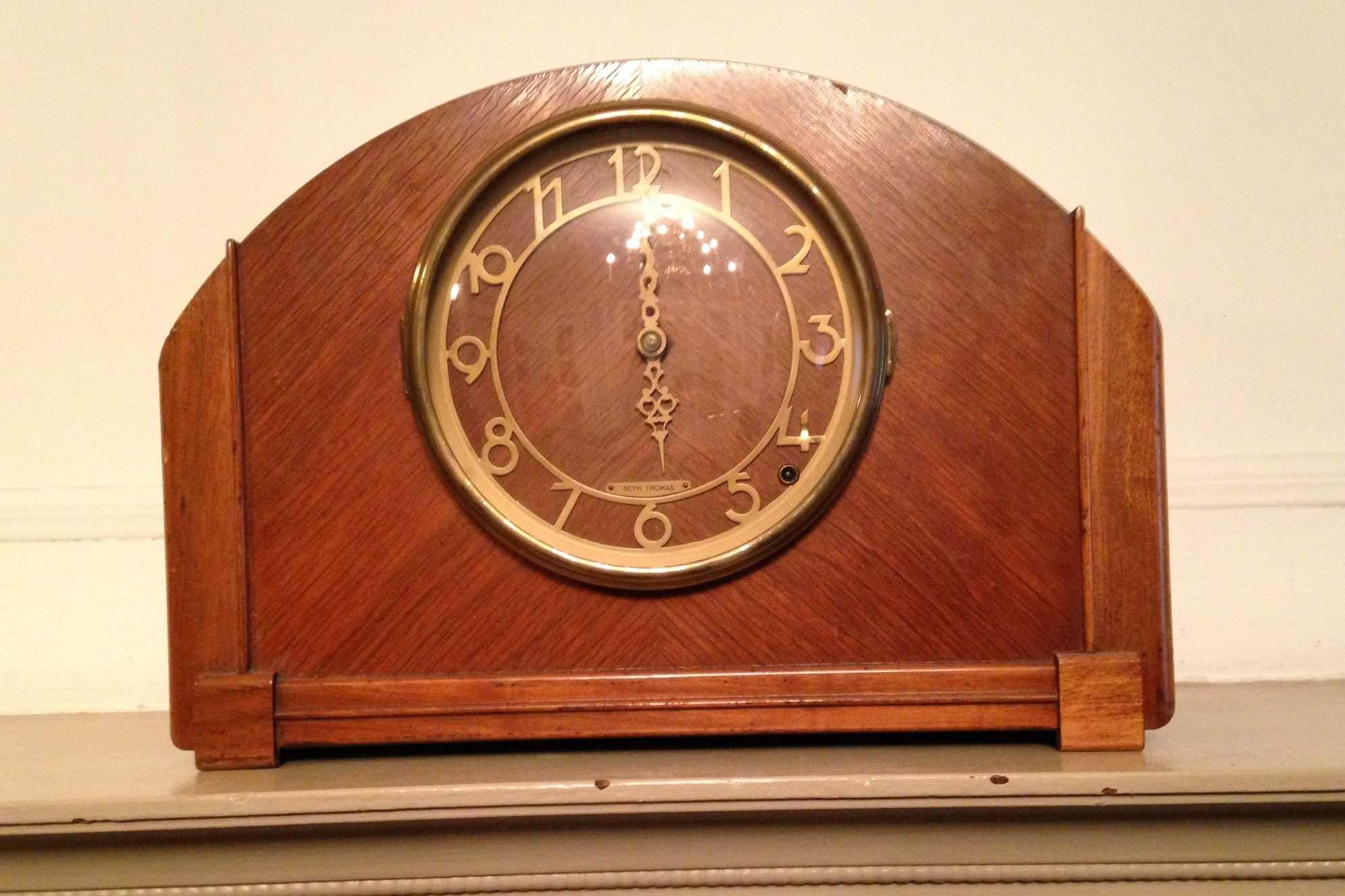 A photo of the Seth Thomas clock that was reported missing from the mayor's office and was later found in the City-County Building..