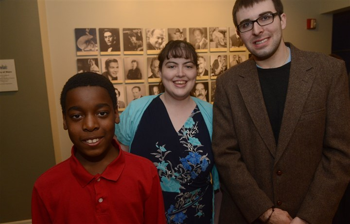 Arts for Autism Ayden Harbin, Autumn Shuty and Sean Reilly.