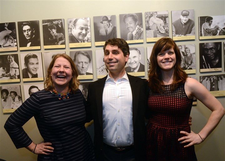 Art for Autism Carolyn Hare, Dan Moses and Heather Conroy.
