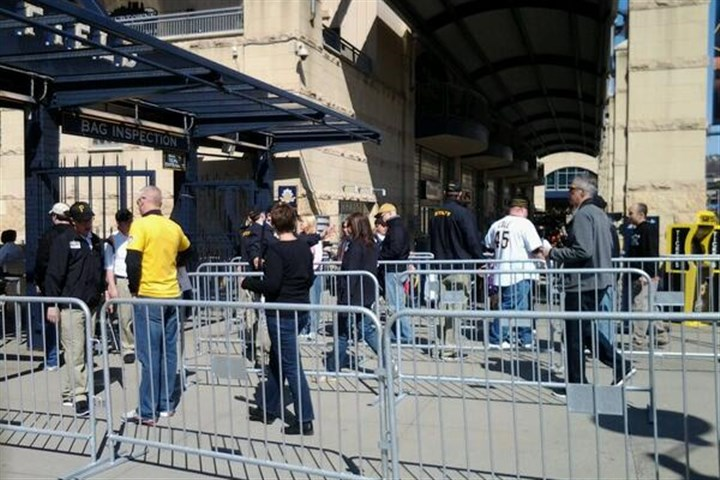 The gates have opened Pirates fans begin to enter PNC Park on Opening Day.