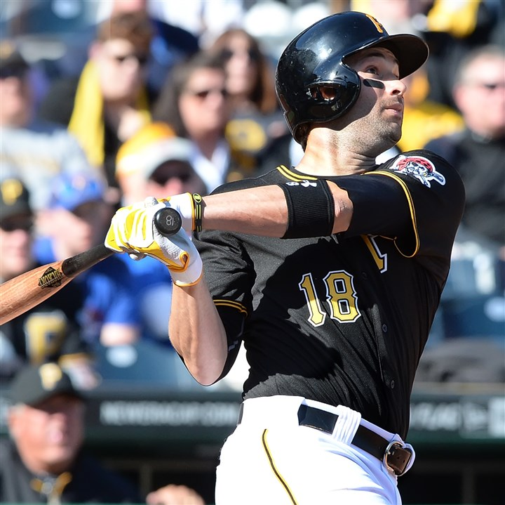 Neil Walker hits a walk-off homer The Pirates' Neil Walker watches the ball clear the right field to hit a walk-off homer to beat the Cubs at PNC Park.