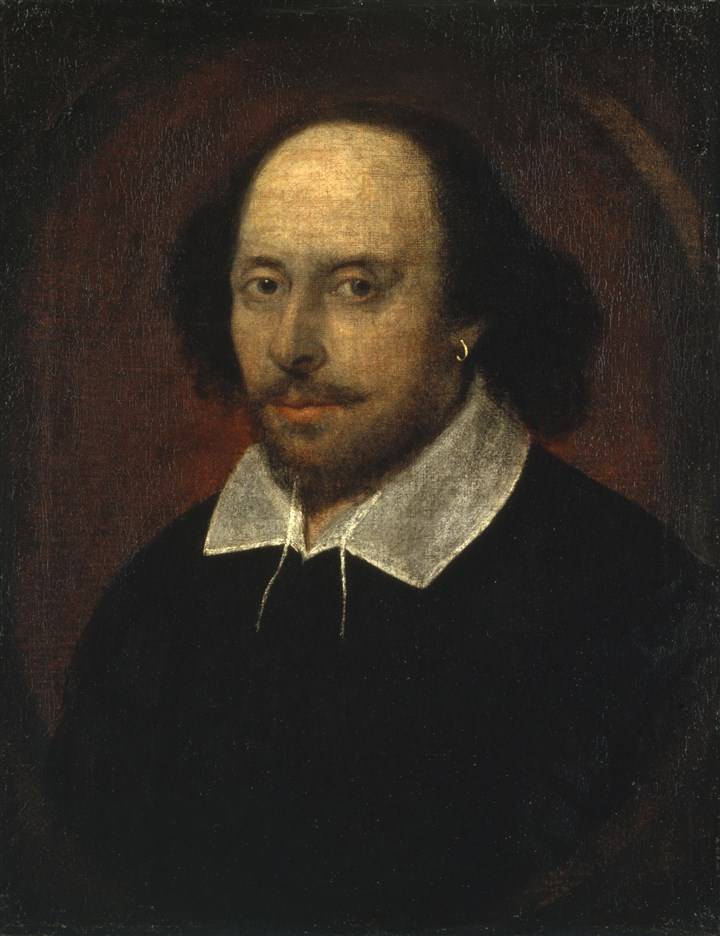 """Chandos portrait"" of William Shakespeare  The famous ""Chandos portrait"" of William Shakespeare is a highlight of the National Portrait Gallery."