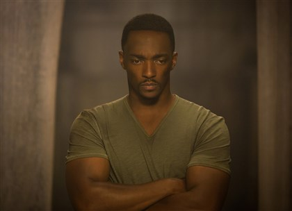 "Captain America The Winter Soldier Anthony Mackie is Falcon/Sam Wilson in ""Captain America: The Winter Soldier."""