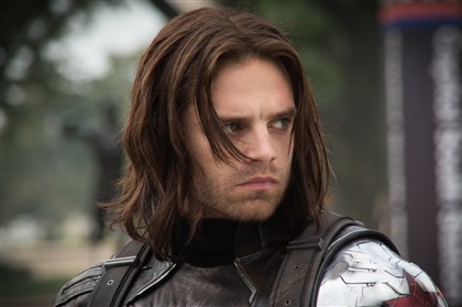 "Captain America The Winter Soldier Sebastian Stan portrays Winter Soldier/Bucky Barnes in ""Captain America: The Winter Soldier."""