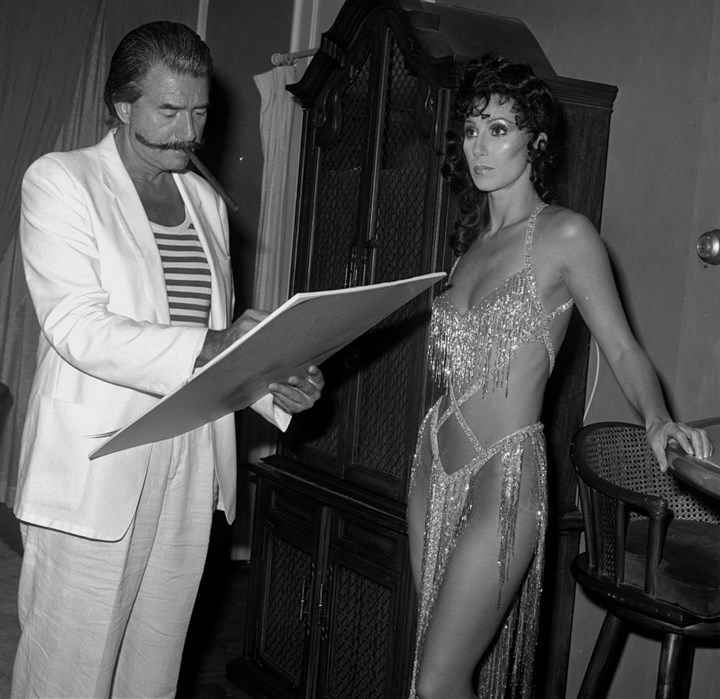 cher_7-4 Cher, in 1981, being sketched by Leroy Niemann.