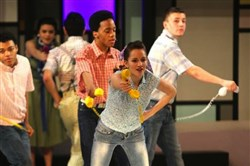 "Pittsburgh Brashear performs the high school's 2014 spring musical ""Bye Bye Birdie."""