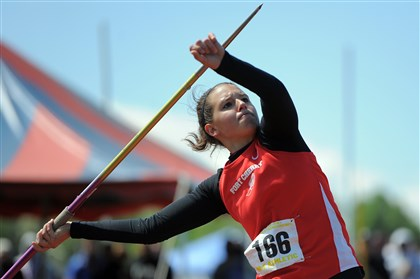 9fj00kga.jpg Fort Cherry's Jenna Lucas, the defending PIAA Class AA javelin champion, has earned a scholarship to Central Florida.
