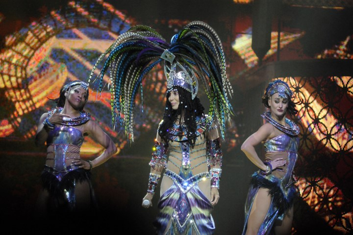 Cher Cher sparkles on stage at Consol Energy Center.