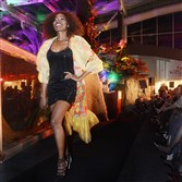 A model walks the runway wearing a look from Pittsburgh-based designer Lana Neumeyer at Fashion for the Wild 2014. This year's event will be held on Thursday at the Pittsburgh Zoo and PPG Aquarium.