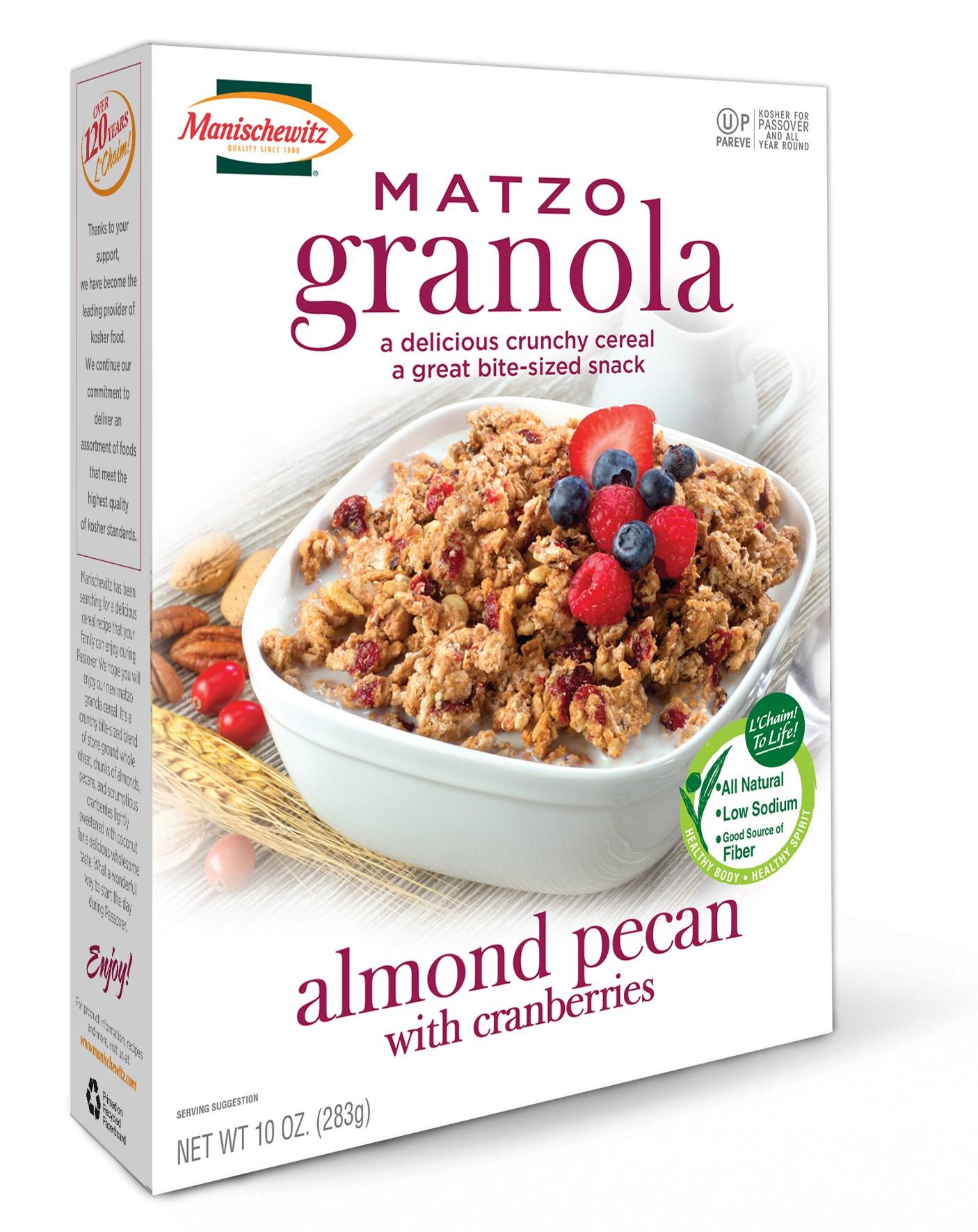 New noshes include matzo granola