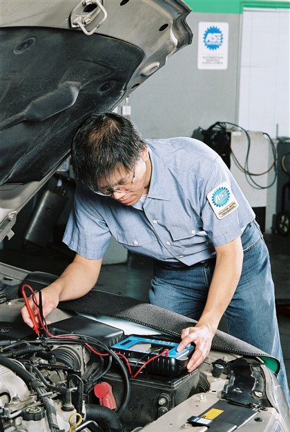 Spring car maintenance A.S.E. Certified technician
