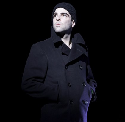 "QuintoGlass-1 Zachary Quinto as Tom Wingfield in ""The Glass Menagerie."""