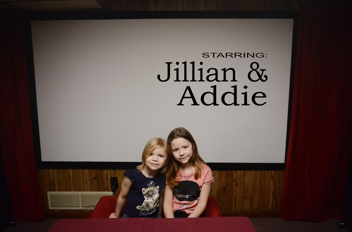 Sisters Adelaide, 6, and Jillian McLaughlin, 8 Sisters Adelaide, 6, and Jillian McLaughlin, 8, inside their Forest Hills home studio, where they film videos for their YouTube channel.