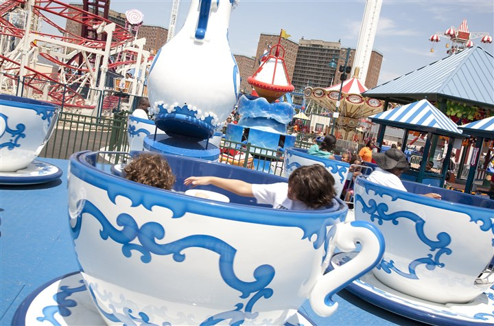 A Tea Cup ride A Tea Cup ride, with six cups, will join the more than 70 rides at Hersheypark.