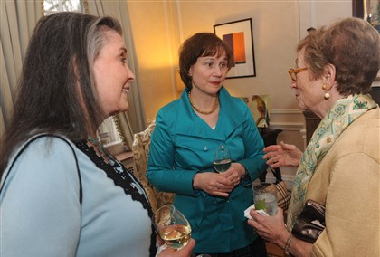 Patron Party Pam Bryan, Julie Dever and Barbara Ackerman.