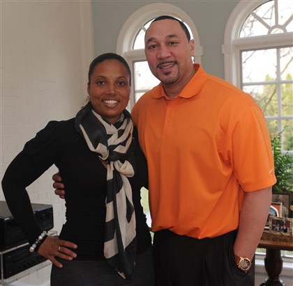 Patron Party Latasha and Charlie Batch.