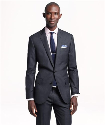 J.Crew suits Ludlow suit jacket with double vent in Italian wool, $425 at J.Crew.