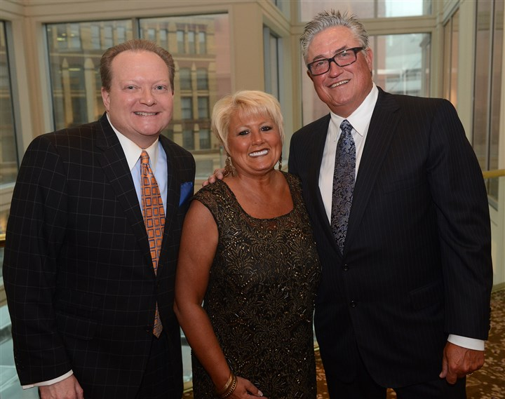 Rooney Awards  Michael Bartley, Andrea Carelli and Clint Hurdle.